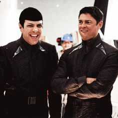 #zachary quinto #karl urban ( repinning because I love this )
