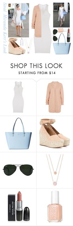"""""""Steal Miranda Kerr's Style"""" by lauren200067 ❤ liked on Polyvore featuring Kerr®, ISABEL BENENATO, Acne Studios, Kate Spade, Chloé, Ray-Ban, Michael Kors and Essie"""
