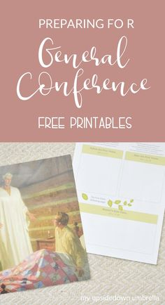 General Conference Activities For Kids, Primary Activities, Lds Conference, General Conference Quotes, Fhe Lessons, Primary Lessons, Spiritual Church, Lds Seminary, Visiting Teaching Handouts