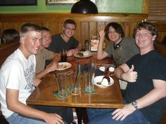 My son's 16th birthday he said he didn't want balloons and streamers, he was too old... so I gave him and his friends what all teenage boys want... dinner at Outback.