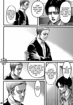 it's almost as if Levi is psychic, because erwin will die in shiganshina.