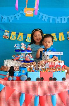 "Photo 10 of 14: Thomas the Train party / Birthday ""Thomas Train Birthday Party""   Catch My Party"