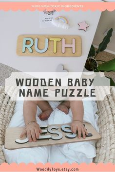 Baby Name Puzzle by WoodilyToys. Personalized name puzzle is the best wooden toy for a baby. Eco-friendly Montessori toys. Handcrafted in the USA. Engraved Baby Gift Boy's Name Puzzle Gift for Godchild New Baby Boy Baptism Gift New Born Montessori Puzzle Gift Godson Name Dedication. 1st Christmas gift, Baby Christmas gift, Personalized Christmas baby gift, Kids Christmas gift #woodentoy #kidstoy