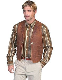 Enjoy your own premium Scully Leather vest from the leather craftsmen who produced leather jackets, gloves, and helmets for WWI and WWII pilots and Admiral Byrd's expedition to the Antarctic Scully Leather Company has been crafting fine leather wear since 1906, some of which you'll...  More details at https://jackets-lovers.bestselleroutlets.com/mens-jackets-coats/vests/product-review-for-scully-mens-concho-leather-vest-965-60/