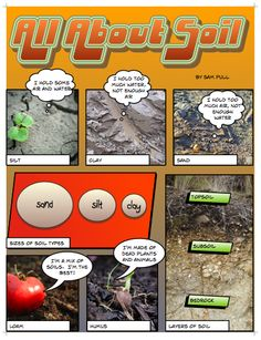 Are you ready for some gardening?  Here are some tips for healthy soil, presented to you in Comic Life form!