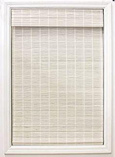 "Amazon.com: Radiance 2215342E Cordless Bayshore Matchstick Bamboo Roman Shade, 48"" W x 64"" L, White: Home & Kitchen"