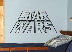 Star Wars wall decal vinyl sticker - star wars art children's wall decor from WallCrafters on Etsy