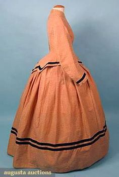 Apricot Wool Day Dress, 1860s. | In the Swan's Shadow