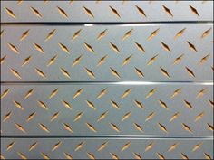 Need to texture Slatwall? Need to texture Slatwall in a manly fashion? How about a Diamond Plate pattern in with… Slat Wall, Industrial Chic, Windmill, Metal Working, Plate, Diamond, Retail, Patterns, Friends