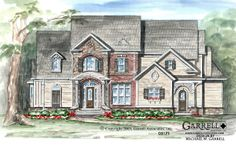 Garrell Associates,Inc. Sterling House Plan # 05171, Front Elevation, Victorian Style House Plans, Traditional Style House Plans (4,004 s.f.) Design by Michael W. Garrell