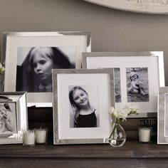 Perfect for creating a 'family storybook' display on a sideboard or mantelpiece, these lovely photo frames work as well in a mix-and-match group as they do individually on a desk or wall mounting portrait or landscape.
