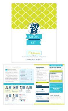 GAMS Media Kit Materials by Laura Nagle, via Behance