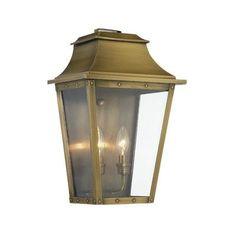 Manchester Collection 1 Light Aged Brass Outdoor Wall Lantern | Christensen  No. 2 | Pinterest | Outdoor Wall Lantern, Outdoor Walls And Walls