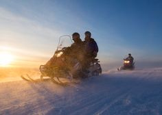 This snowmobile safari provides a complete getaway with snowmobiles in the wilderness of Lapland. The remote tracks take us around snow covered landscapes of Lapland: up the hills, cross the frozen rivers, along the lakes and swamps. This snowmobile excursion is for the ones who like to go beyond the most common, explore something new and have more challenging driving. During the day we will enjoy a lunch in the forest accompanied with hot drink.