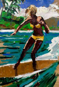#surfart #beachdecor #midcenturymodern #surfing #beachculture