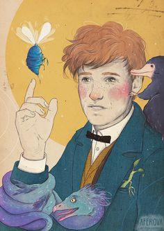 Newt Scamander - My philosophy is that worrying means you suffer twice by Aferova