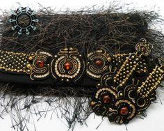 Soutache bag and earrings by Alina Tyro-Niezgoda tenderdecember.eu