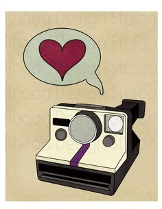 Your place to buy and sell all things handmade Photography Illustration, Photo Illustration, Camera Crafts, Camera Quotes, Camera Drawing, Retro Camera, Shabby Vintage, Graphic Design Inspiration, Art Drawings