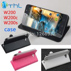 For THL W200S W200 New Fashion PU Leather Flip Case Cover Smartphone Case THL Stand Holder Case For W200 W200S Case