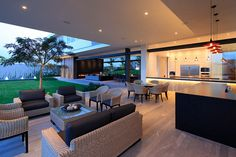 Relaxing Living Room Design Ideas For Outdoor 26 Outdoor Living Rooms, Modern House Design, Contemporary Design, Home Fashion, Home Interior Design, Luxury Homes, Architecture Design, House Plans, New Homes