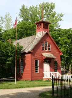 Check out the front awning!  Old schoolhouse -- Lyford, IN