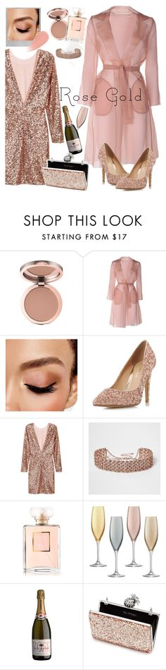 """A Rose Gold New Year"" by stylezbyjaph ❤ liked on Polyvore featuring MaxMara, Polaroid, Avon, Head Over Heels by Dune, River Island, Chanel, LSA International, Miss Selfridge, Burberry and rosegold"