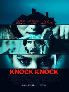 "Eli Roth is making some serious waves with titles such as ""Hostel"", ""The Green Inferno"" and now ""Knock Knock"".     ""Knock Knock"" is a sexy thriller starring Keanu Reeves, Ana De Armas and Roth's own lovely wife, Lorenza Izzo.     This film is about one weak man's attempt  to do a good deed that spins horribly out of his control.     ""Knock Knock"" is a must-see on anybody's list that likes their movies with a little edge;)"