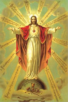 "theraccolta: "" The Twelve Promises of Our Lord to Saint Margaret Mary for those devoted to His Sacred Heart. "" God and Jesus Christ Religious Pictures, Jesus Pictures, Religious Icons, Religious Art, Image Jesus, Jesus Christ Images, Croix Christ, Jesus E Maria, Jesus Christus"