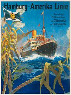 Hans Bohrdt, Hamburg-Amerika Linie Regelmassige Postdampferlinien nach Sudamerika, 1903