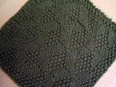 simple knitted washcloth - put in giftbasket for new home, new baby, etc.
