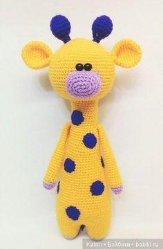 Жираф. Вязание игрушек крючком / Вязание игрушек, схемы / Бэйбики. Куклы фото. Одежда для кукол