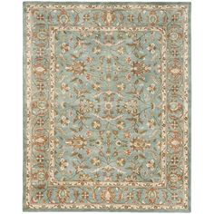 Hsieh Hand-Woven Wool Blue Area Rug