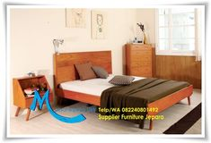 Ranjang Tidur Minimalis Kayu Jati WA 0822 4080 1492