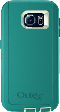 OtterBox DEFENDER SERIES for Samsung Galaxy S6 - Frustration-Free Packaging - Cool Melon (Sage Green/Light Teal)