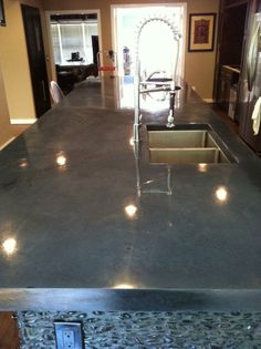 1000 ideas about polished concrete countertops on for Polished concrete kitchen countertops