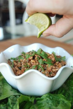 "lettuce wraps from the ""ass friendly"" section of this blog... she's pretty darn funny, and knows her way around a kitchen!"