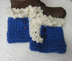 Crochet Boot Cuffs,Boot Cuffs,Lace Boot Cuffs,Boot Toppers,Blue Boot Cuffs,Boot Sock,Lace Boot Cuff,Boho,Women's Fashion,Winter Wear,Gift by Kitkateden on Etsy