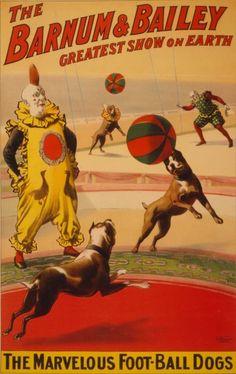 Barnum & Bailey Circus Poster circa 1900
