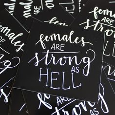 Females Are Strong As Hell // Unbreakable Kimmy Schmidt stickers by Good Morning Lettering Co. On Etsy