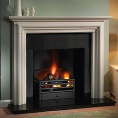 Finether 1500W Freestanding Portable Electric Fireplace Stove ...