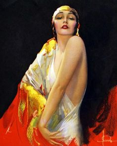 Rolf armstrong rare jazz-age art deco pin-up print flower of the orient flapper Rolf Armstrong, Pinup Art, Vintage Girls, Vintage Art, Vintage Prints, Moda Pinup, Estilo Pin Up, Portraits, Art Deco Period
