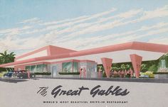 The Great Gables - Miami, Florida World's Most Beautiful Drive-In S.W. 8th St. (Tamiami Trail) Off Ponce de Leon Blvd. (39th Ave.) Dining Room - Curb Service - Air Conditioned