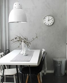 #interior #styling #dining #decor #scandinavian #natural #grey #concrete #lamp