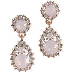 Sofia ear rose water opal (395 SEK) ❤ liked on Polyvore featuring jewelry, earrings, lily earrings, opal earrings, opal jewellery, rose earrings and opal jewelry