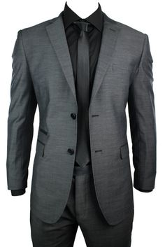 This Men's Wedding Party Charcoal Grey Suit is a Black Trim Design fashionable 2 Piece Suit. Description from truclothing.com. I searched for this on bing.com/images
