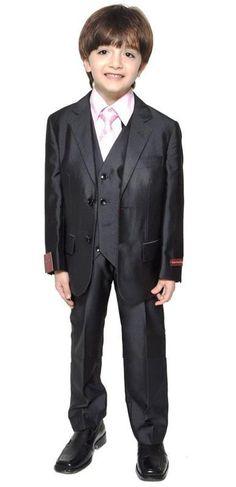 6d3fe0e4f2 Boys Wedding Wear Handsome Black Page Boy Suit Boy Wedding Suit Boys   Formal Occasion Attire Custom Made Suit Tuxedo Jacket+Pants+Vest 5185 Gowns  For Kids ...
