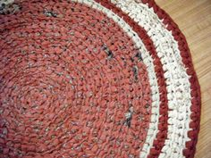 Handmade Rust Colored Fabric Rug  For Etsy by Karenhugheskreations