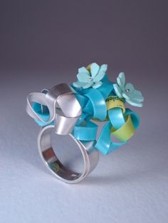 BRIDGET CATCHPOLE-CANADA tangle rings, 2008, sterlings silver, upcycled plastic. photo: Anthony McLean