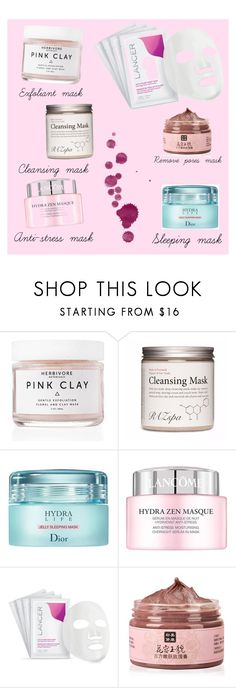 """""""Beautymask"""" by michela-micc ❤ liked on Polyvore featuring beauty, Herbivore, Christian Dior, Lancôme, Lancer Dermatology and facemasks"""