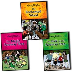 Enid Blyton Magic Faraway Tree 3 books Set Hardback The Folk The Enchanted Woods